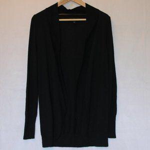 Mossimo Basic Black Circle Open Cardigan